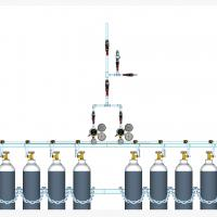 Sentral MANUAL MANIFOLD Nitrous Oxide (N2O) kapasitas 2 x 4 tabung