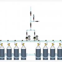Sentral MANUAL MANIFOLD Nitrous Oxide (N2O) kapasitas 2 x 1 tabung