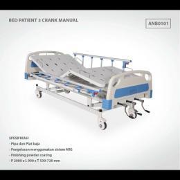 BED PATIENT 3 CRANK MANUAL ABS