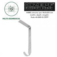 HIBBS retractor pair 19x51x235 mm (width x depth x length) kode 40-0810-23 ZEPF