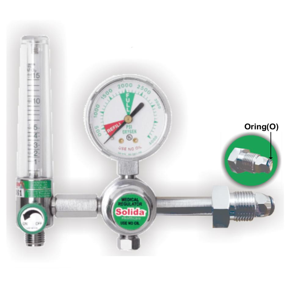 Solida Oxygen Regulator With Flowmeter 15 LPM For Adult