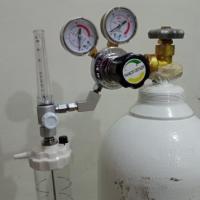 PAHSCO Flowmeter (Regulator) Oksigen 0- 15 LPM (Adult / Dewasa) FULL SET with Reusable Humidifier 135 ML and Regulator Tabung