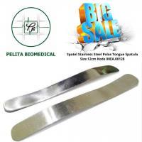 Spatel Stainless Steel Polos Tongue Spatula Size 12cm Kode 00EA.00128