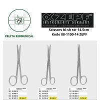 Scissors bl-sh str 14.5cm kode 08-1100-14 ZEPF