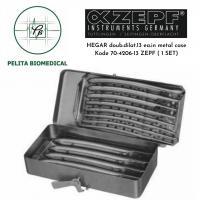 Dilator Hegar Double One Set Curetage Dilat.13 ea.in Metal Case kode 70-4206-13 ZEPF