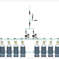 Sentral MANUAL MANIFOLD Nitrous Oxide (N2O) kapasitas 2 x 8 tabung