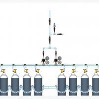 Sentral MANUAL MANIFOLD Nitrous Oxide (N2O) kapasitas 2 x 10 tabung