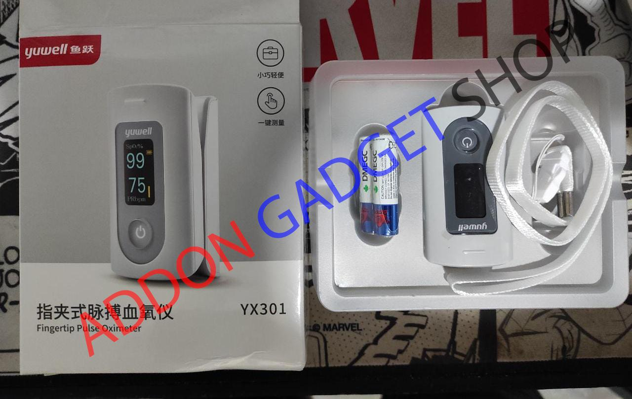 Yuwell YX301 - Pulse Oximeter - Oxymeter - Alat Saturasi - Akurat
