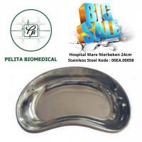Share:  0 Hospital Ware Nierbeken ±22cm & ±24cm Stainless Steel Kode : 00EA.00058