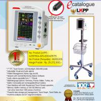 """MENTOR Bedside Monitor / Patient Monitor 7"""" Touch Screen PM-6500 + Mobile Stand Stainless Steel"""