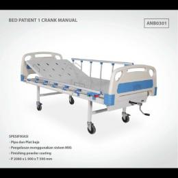BED PATIENT 1 CRANK MANUAL ABS