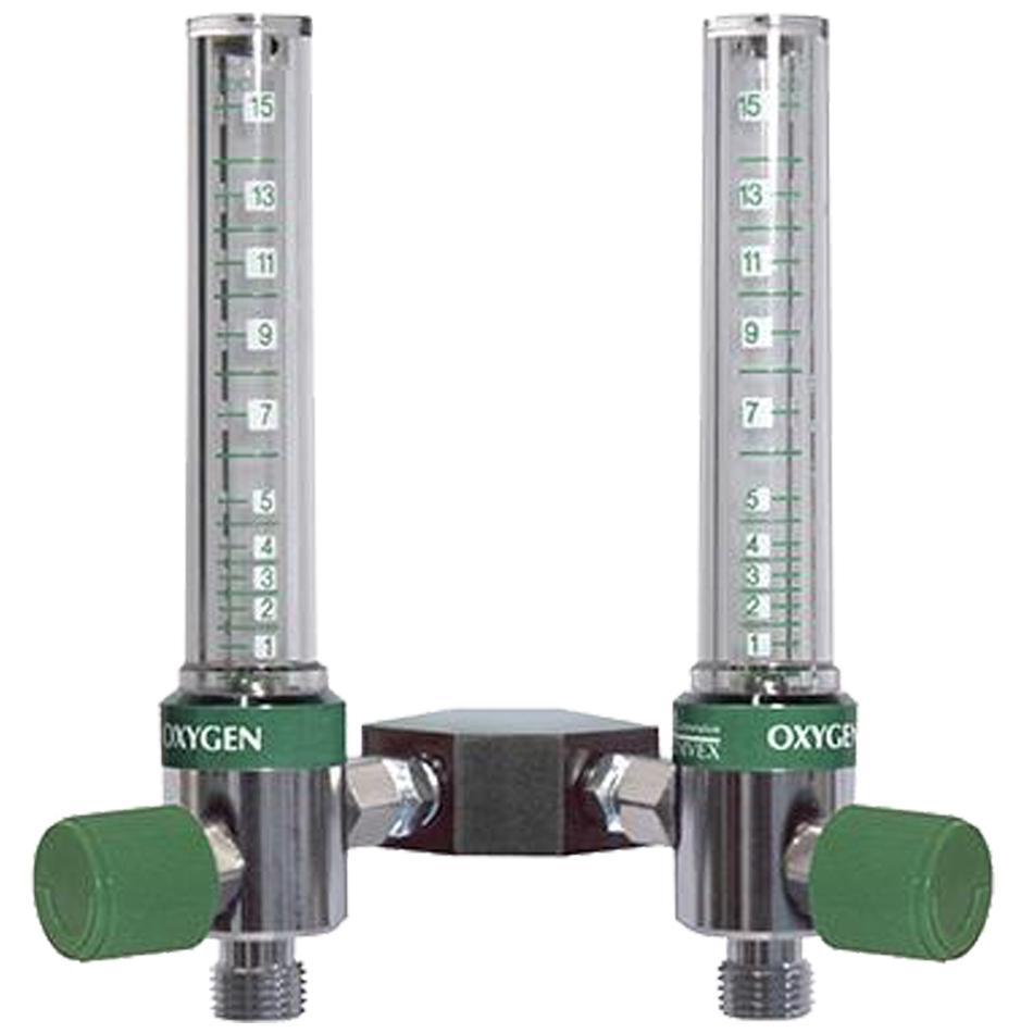 Y-Block Assemblies Twin Flowmeter O2 Flowmeter 0-15LPM Adapter Ohmeda
