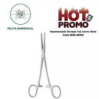Haemostatic forceps 1x2 curve 16cm Kode 00EA.00050