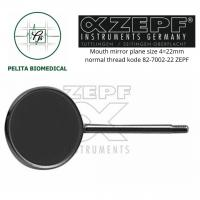 Mouth mirror plane size 4=22mm normal thread kode 82-7002-22 ZEPF